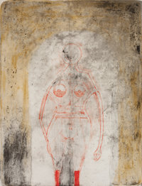 RUFINO TAMAYO (Mexican, 1899-1991) Mujer en Rojo, from Mujeres (page 121), 1969 Lithograph in colors