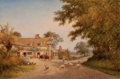 Fine Art - Painting, European:Other , WALTER WALLOR CAFFYN (British, 1845-1898). The Chester Inn,1894. Oil on canvas . 16-1/4 x 24 inches (41.3 x 61.0 cm). S...