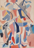 Works on Paper, CARL ROBERT HOLTY (American, 1900-1973). Abstract Composition. Watercolor and pencil on paper. Sight: 12 x 8-3/4 inches ...