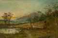 Fine Art - Painting, European:Other , WALTER WALLOR CAFFYN (British, 1845-1898). Dorking, Surrey, 1897. Oil on canvas. 16-1/2 x 24 inches (41.9 x 61.0 cm). Si...