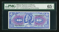 Military Payment Certificates:Series 611, Series 611 $10 PMG Gem Unciruclated 65 EPQ.. ...