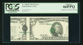 Error Notes:Major Errors, Fr. 1984-B $5 1995 Federal Reserve Note. PCGS Gem New 66PPQ.. ...
