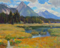 Fine Art - Painting, American:Contemporary   (1950 to present)  , KEVIN MACPHERSON (American, b. 1956). Rockies. Oil on canvas. 16 x 20 inches (40.6 x 50.8 cm). Signed lower right: Kev...