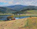 Fine Art - Painting, American:Contemporary   (1950 to present)  , KEVIN MACPHERSON (American, b. 1956). Catamount Lake (SteamboatSprings, Colorado). Oil on canvas. 16 x 20 inches (40.6 ...