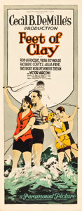 "Movie Posters:Drama, Feet of Clay (Paramount, 1924). Insert (14"" X 36"").. ..."