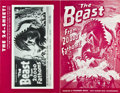 "Movie Posters:Science Fiction, The Beast from 20,000 Fathoms and Other Lot (Warner Brothers,1953). Uncut Pressbooks (2) (Multiple Pages, 12"" X 18"" and 11""...(Total: 2 Items)"