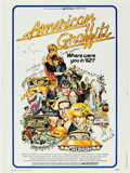 """Movie Posters:Comedy, American Graffiti (Universal, 1973). Autographed Poster (30"""" X 40"""").. ..."""