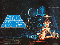 "Star Wars (20th Century Fox, 1977). Autographed British Quad (30"" X 40"")"