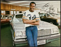 "Football Collectibles:Photos, Walter Payton Signed ""Buick"" Advertising Premium...."