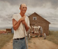 Fine Art - Painting, American:Contemporary   (1950 to present)  , GARY WATSON (American, b. 1950). Farmer and Barn, 1983. Oilon masonite. 22-1/2 x 26-1/4 inches (57.2 x 66.7 cm). Signed...