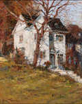 Asian:Other, X. SONG JIANG (Chinese, b. 1955). White House on a Hill. Oilon masonite. 10 x 8 inches (25.4 x 20.3 cm). Signed lower l...