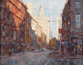Asian:Other, X. SONG JIANG (Chinese, b. 1955). New York Street Scene. Oilon panel . 8 x 10 inches (20.3 x 25.4 cm). Faintly signed l...