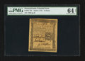 Colonial Notes:Pennsylvania, Pennsylvania April 3, 1772 18d PMG Choice Uncirculated 64 Net.. ...