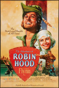"Movie Posters:Swashbuckler, The Adventures of Robin Hood (Warner Brothers, R-1989). One Sheet(27"" X 40""). Swashbuckler.. ..."