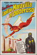 """Movie Posters:Serial, Adventures of Captain Marvel (Republic, 1941). Argentinean Poster (29"""" X 43.5""""). Serial.. ..."""