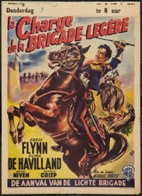 "The Charge of the Light Brigade (Warner Brothers, R-1950s). Belgian Poster (14"" X 19""). Action"