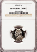 Proof Jefferson Nickels: , 1986-S 5C PR69 Ultra Cameo NGC. NGC Census: (368/7). PCGSPopulation (3431/11). Numismedia Wsl. Price for problem free NGC...
