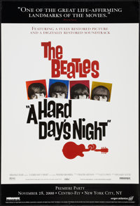 "A Hard Day's Night (Miramax, R-2000). One Sheet (27"" X 40""). Rock and Roll"