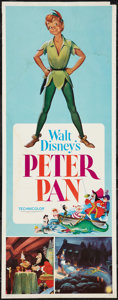 """Movie Posters:Animation, Peter Pan (Buena Vista, R-1976). Insert (14"""" X 36""""). Animation....."""