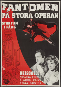 "Phantom of the Opera (Universal International, R-1951). Swedish One Sheet (27.5"" X 39.5""). Horror"
