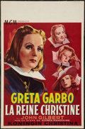 "Movie Posters:Drama, Queen Christina (MGM, R-1950s). Belgian (14"" X 21.5""). Drama.. ..."