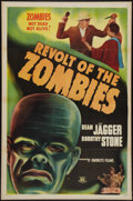 "Movie Posters:Horror, Revolt of the Zombies (Favorite Films, R-1947). One Sheet (27"" X41"") Flat Folded. Horror.. ..."