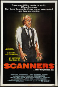 "Scanners (Avco Embassy, 1981). One Sheet (27"" X 41""). Horror"