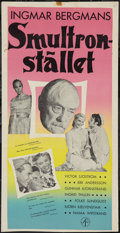 "Movie Posters:Drama, Wild Strawberries (Swensk, 1958). Swedish Insert (12.5"" X 24.5""). Drama.. ..."