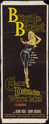 "Come Dance With Me! (Kingsley International, 1960). Insert (14"" X 36""). Mystery"