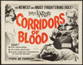"""Movie Posters:Horror, Corridors of Blood (MGM, 1963). Half Sheet (22"""" X 28""""). Horror....."""