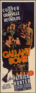 "Movie Posters:Mystery, Gallant Sons (MGM, 1940). Insert (14"" X 36""). Mystery.. ..."