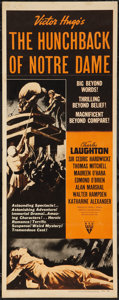 """Movie Posters:Horror, The Hunchback of Notre Dame (RKO, R-1952). Insert (14"""" X 36""""). Horror.. ..."""