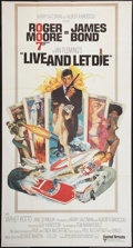"Movie Posters:James Bond, Live and Let Die (United Artists, 1973). International Three Sheet (41"" X 77""). James Bond.. ..."