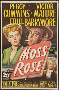"Moss Rose (20th Century Fox, 1947). One Sheet (27"" X 41""). Mystery"
