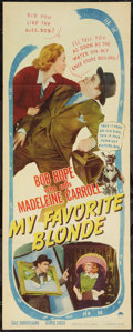 """Movie Posters:Comedy, My Favorite Blonde (Paramount, 1942). Insert (14"""" X 36""""). Comedy....."""