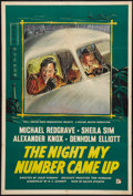 """Movie Posters:Thriller, The Night My Number Came Up (Rank, 1955). British One Sheet (27"""" X40""""). Thriller.. ..."""