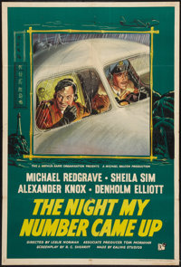 "The Night My Number Came Up (Rank, 1955). British One Sheet (27"" X 40""). Thriller"