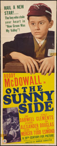 "Movie Posters:Drama, On the Sunny Side (20th Century Fox, 1942). Insert (14"" X 36"").Drama.. ..."