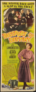 "Movie Posters:War, Passport to Destiny (RKO, 1944). Insert (14"" X 36""). War.. ..."