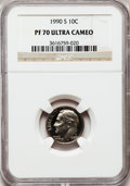 Proof Roosevelt Dimes: , 1990-S 10C PR70 Ultra Cameo NGC. NGC Census: (154). PCGS Population(257). Numismedia Wsl. Price for problem free NGC/PCGS...