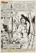 Original Comic Art:Splash Pages, Howard Chaykin Marvel Premiere #34 Solomon Kane Splash Page1 Original Art (Marvel, 1977)....