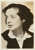 Memorabilia:Movie-Related, Elsa Lanchester Autographed Photo (c. 1940s)....