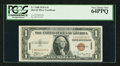 Small Size:World War II Emergency Notes, Low Serial Number C00000290C Fr. 2300 $1 1935A Hawaii Silver Certificate. PCGS Very Choice New 64PPQ.. ...