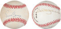 Autographs:Baseballs, Baseball Notables Signed Baseballs Lot of 2....