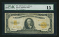 Large Size:Gold Certificates, Fr. 1173* $10 1922 Gold Certificate Star Note PMG Choice Fine 15.. ...