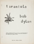 Music Memorabilia:Documents, Bob Dylan Tarantula Unauthorized Pre-publication 1960s Edition (Wimp Press). ...