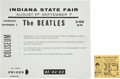 Music Memorabilia:Tickets, Beatles Indiana State Fair Concert Ticket Stub and Flyer (1964)....