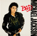Music Memorabilia:Autographs and Signed Items, Michael Jackson Signed Bad LP (Epic 40600, 1987)....