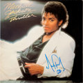 Music Memorabilia:Autographs and Signed Items, Michael Jackson Signed Thriller LP (Epic 38112, 1982)....