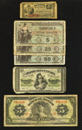 Canadian Currency: , DC-1b 25¢ 1870 . ... (Total: 6 notes)
